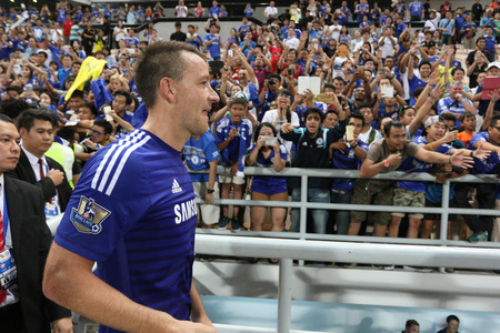 BANGKOK  MAY 30:John Terry of Chelsea in action during Singha Chelsea FC Celebration match at Rajamangala Stadium on MAY 30 2015 in Bangkok Thailand.