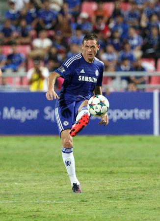 chelsea: BANGKOK - MAY 30:Nemanja Matic of Chelsea in action during Singha Chelsea FC Celebration match at Rajamangala Stadium on MAY 30, 2015 in Bangkok, Thailand.