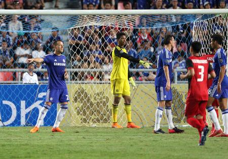 BANGKOK - MAY 30:John Terry of Chelsea in action during Singha Chelsea FC Celebration match at Rajamangala Stadium on MAY 30, 2015 in Bangkok, Thailand.