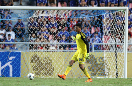 blackman: BANGKOK - MAY 30:Jamal Blackman of Chelsea in action during Singha Chelsea FC Celebration match at Rajamangala Stadium on MAY 30, 2015 in Bangkok, Thailand.