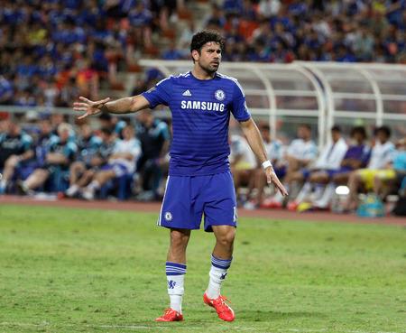 BANGKOK - MAY 30:Diego Costa of Chelsea in action during Singha Chelsea FC Celebration match at Rajamangala Stadium on MAY 30, 2015 in Bangkok, Thailand.