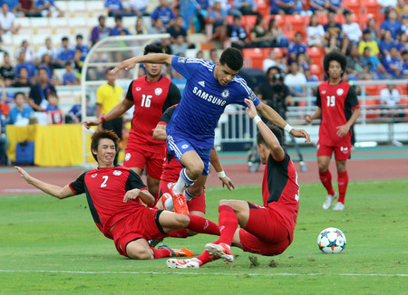 chelsea: BANGKOK - MAY 30:Dominic Solanke of Chelsea in action during Singha Chelsea FC Celebration match at Rajamangala Stadium on MAY 30, 2015 in Bangkok, Thailand.