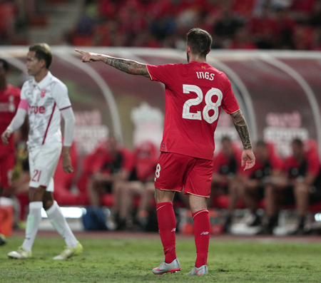 BANGKOK, THAILAND - JULY 14:Danny Ings of Liverpool in action during Ture Super Trophy  Liverpool Tour 2015 at Rajamangala Stadium on JULY 14, 2015 in Bangkok, Thailand.