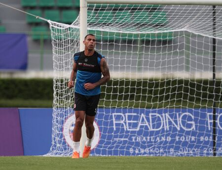 BANGKOK, THAILAND - July 7:Anton Ferdinand of Reading FC in action during an evening session at Supachalasai National Stadium on July 7, 2015 in Bangkok, Thailand.