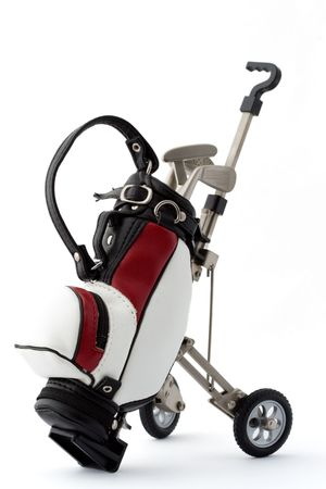 golf bag: Miniature golf bag