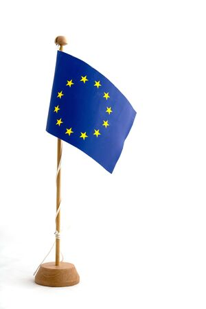 European Union Flag Miniature Isolated on White background Stock Photo - 3110558