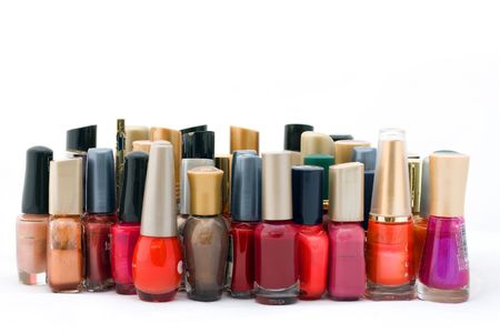fangle: collection of nail polish Stock Photo