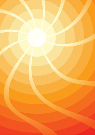 sun drenched: Hot sun illustration (Vector)