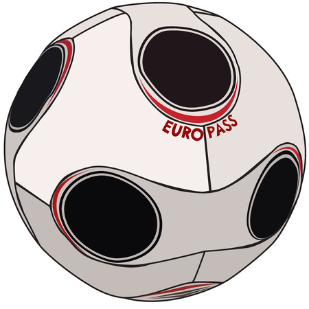 premiership: European championship 2008 soccer ball Illustration