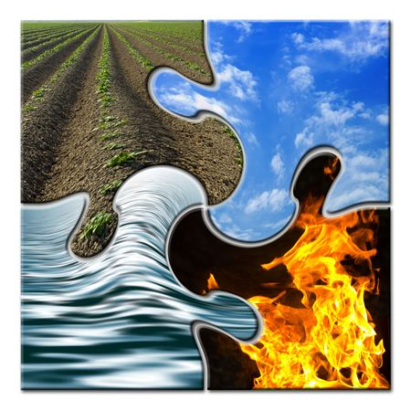 environmental issues: Four elements in a twisted puzzle