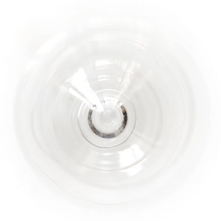 Empty wine glass from above