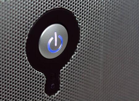 powerbutton: Bot�n de encendido en el panel perforado someras DOF copia espacio a la derecha