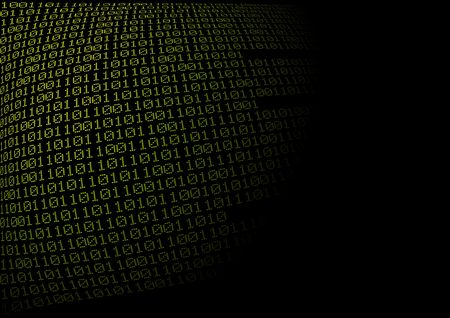 Green binary code with blow up effect Stock Photo - 3991295