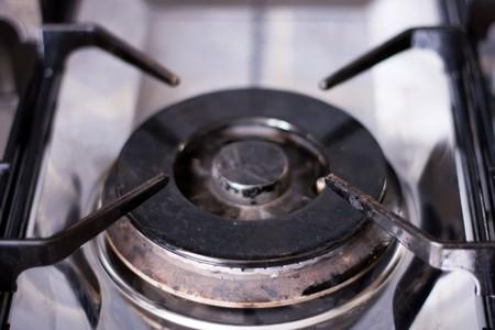 gas cooker: Cocina de gas desde arriba
