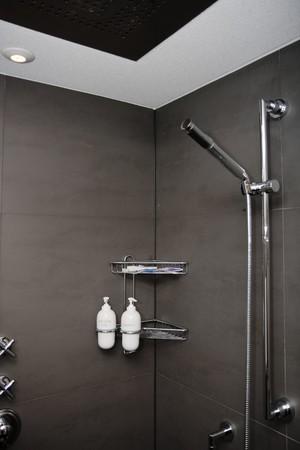 luxury trendy shower room Stock Photo