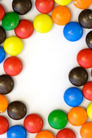 colorful candy border - vertical Stock Photo - 4092903