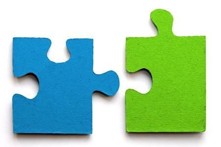 azul brillante y verde giga vio piezas