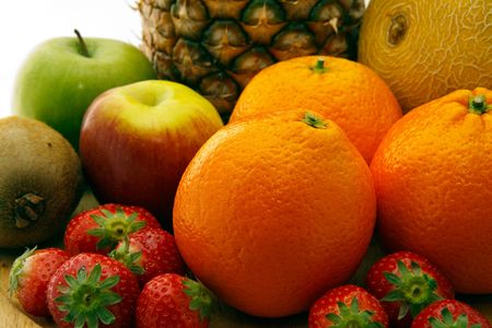 Big pile of lovely fresh fruit Stock Photo - 4966123
