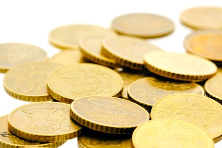 50 euro cent coins on a heap Stock Photo - 5430379