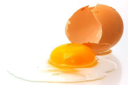 Broken egg photo