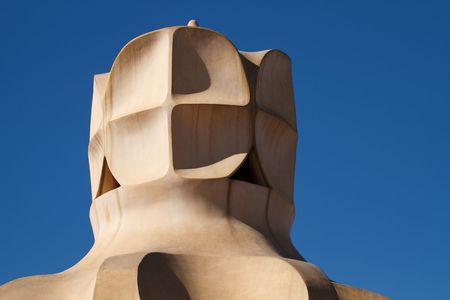 Barcelona Casa Mila: Item on roof of Gaudi House  photo