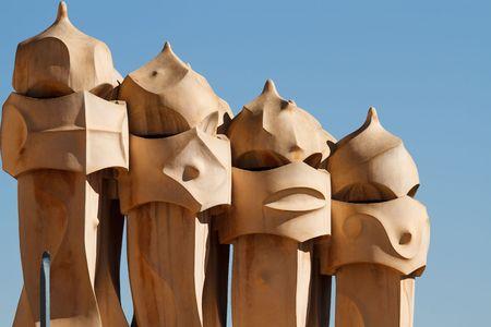 Barcelona Casa Mila - la Pedrera Stock Photo - 6568447