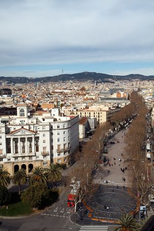 colom: Barcelona cityscape aerial view from Colom Stock Photo