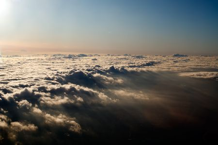 Aerial view above a blanket of clouds Stock Photo - 6568432