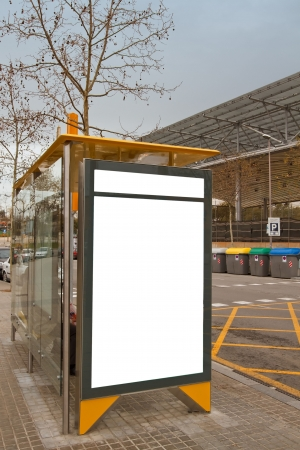 Clean billboard at bus stop Stock Photo - 6570181