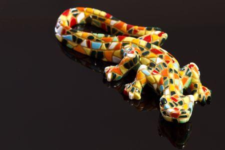 Miniature Gaudi lizard made of ceramic mosaic tiles Stock Photo - 6824079