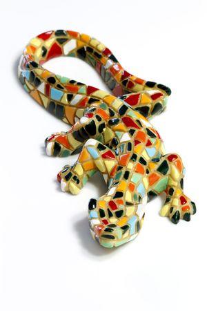 gaudi: Miniature Gaudi lizard made of ceramic mosaic tiles
