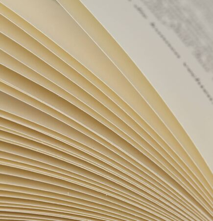 Close-up shot of pages of a book
