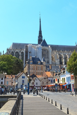 The Cathedral of Our Lady of Amiens Stock Photo