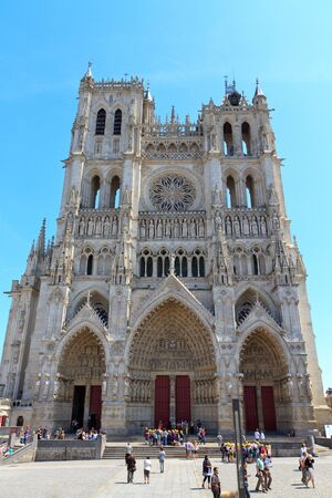 our: The Cathedral of Our Lady of Amiens Stock Photo