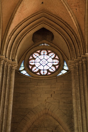 the church of our lady: The Cathedral of Our Lady of Amiens Stock Photo