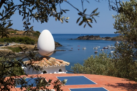 Egg on the Roof of Salvador Dalis House, Portlligat, Spain