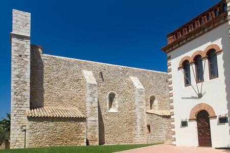 atilde: Old church in the village Sant Mart Costa Brava Spain Stock Photo