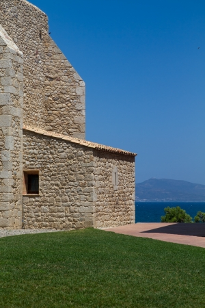 Old church in the village Sant Mart Costa Brava Spain Stock Photo - 15684422