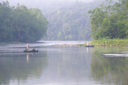 Fishing on the river Stock fotó - 3436664