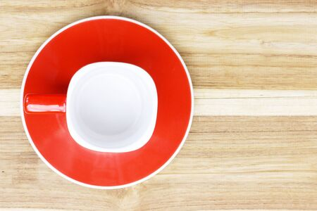 blanked: Blank Coffee cup on wood Stock Photo