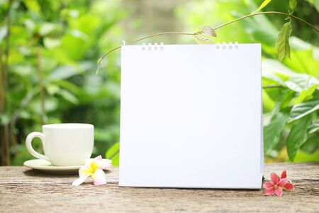 blank page: Coffee and Empty calendar