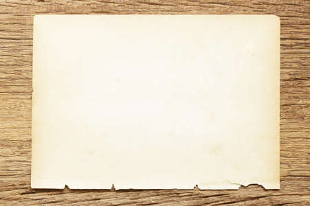 paper on wooden table