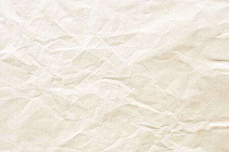 Old Brown crumpled kraft paper texture Stockfoto