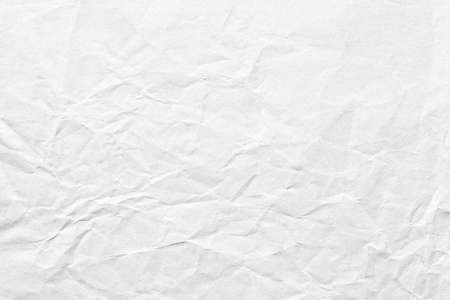 Old crumpled white paper background texture