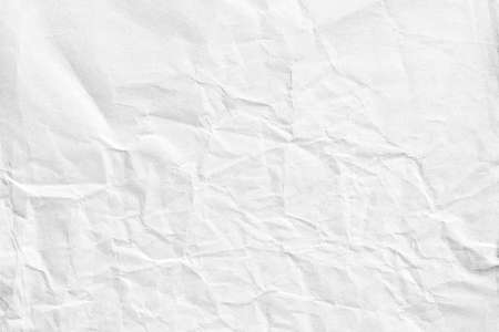 Crumpled white background paper texture Banque d'images - 156789675