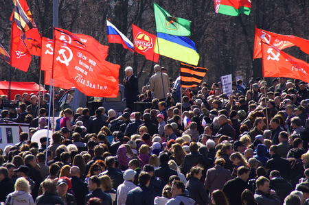 Kharkiv meeting near the the monument of Lenin Редакционное