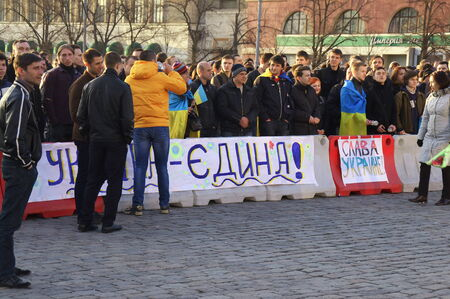 meeting near the Kharkiv Regional State Administration supporters seized the customs union Редакционное