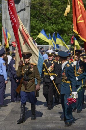 heroism: The celebration of Victory Day at the Memorial of Glory in Kharkov, Ukraine