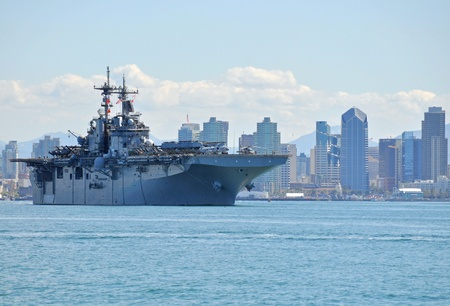 San Diego, California, February 22, 2011- The USS Boxer (LHD 4) departing on Deployment.