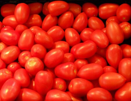 Grape Tomatoes at a Supermarket. photo